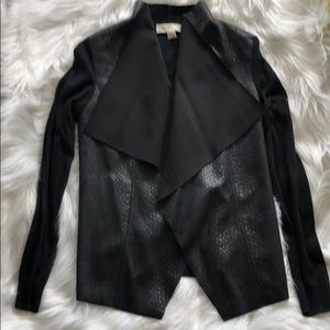Black Double Material Jacket